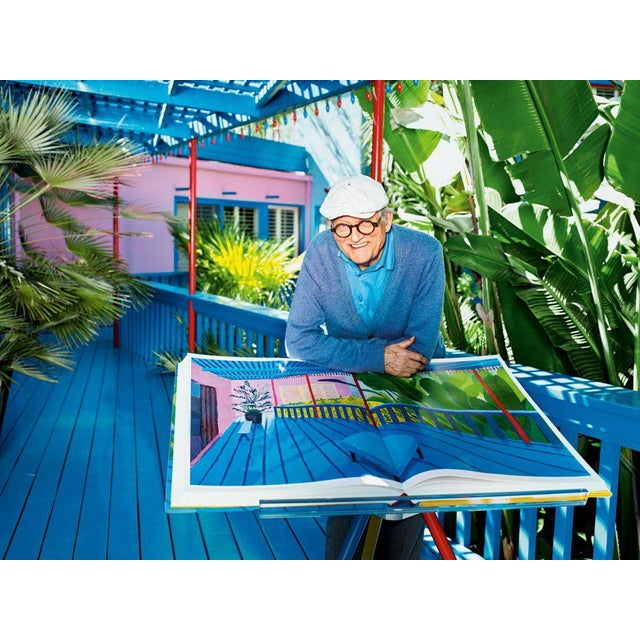 """Autographed David Hockney """"A Bigger Book"""" Painting Collection with Book Stand Collector's Edition For Sale In Los Angeles - Image 6 of 13"""