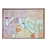 "Image of 1940s Vintage Andre Lauran ""Jardin Des Tuileries"" Painting For Sale"