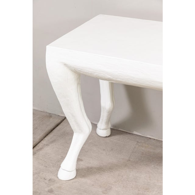 Modern Cast Resin Console Tables - a Pair For Sale - Image 3 of 9