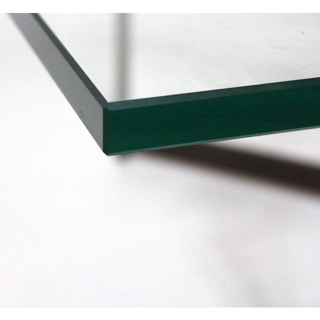 Bronze Mid-Century Bronze & Glass X-Base Coffee Table For Sale - Image 7 of 10