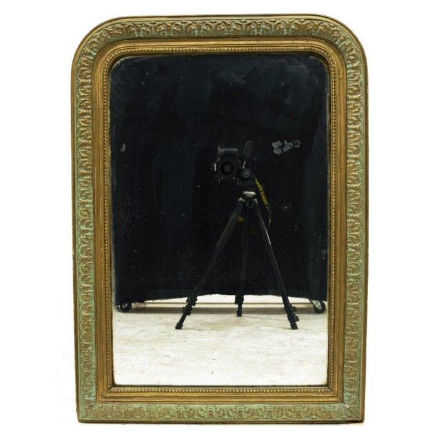 Antique French Charles X style painted wall mirrors, late 19th c. Hand built plaster design surrounding a flat mirror...