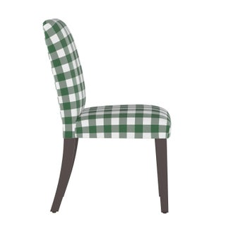 Dining Chair in Classic Gingham Evergreen Oga Preview