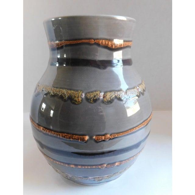 Fabulous Grey Striped Vintage Vase For Sale - Image 9 of 10