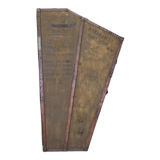 Antique 19th C. Lyon & Healy Harp Case C. 1890 For Sale