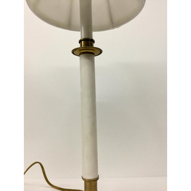 Vintage Candelabra Vanity Lamp With Shade For Sale In Boston - Image 6 of 12
