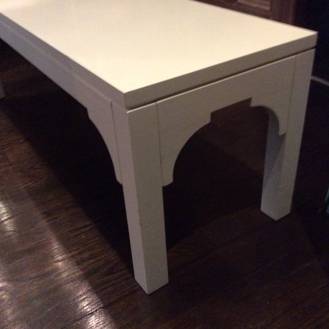 Restoration Hardware White Bench - Image 4 of 8