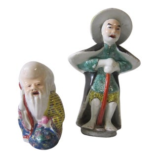 Chinese Immortal Figures - a Pair For Sale