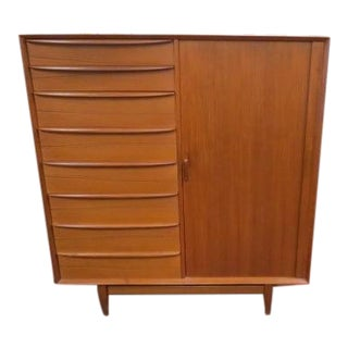 1960s Vintage Mid-Century Modern Svend Madsen for Falster Teak Chest/Dresser For Sale