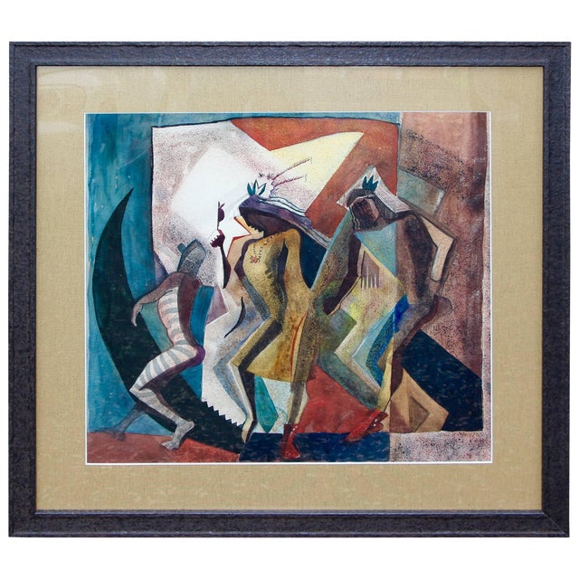 "Lloyd Moylan ""Dancers"" Painting, 1930s-1940s For Sale"