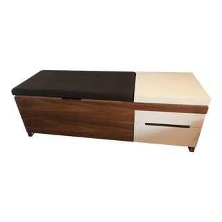 Mid-Century Modern Blu Dot Herman Miller Cognita Storage Bench For Sale