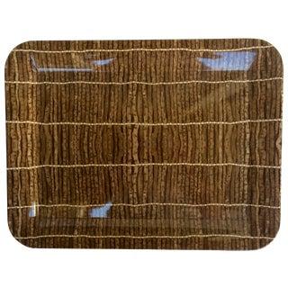 Vintage Brown Twig Print Plastic Tray