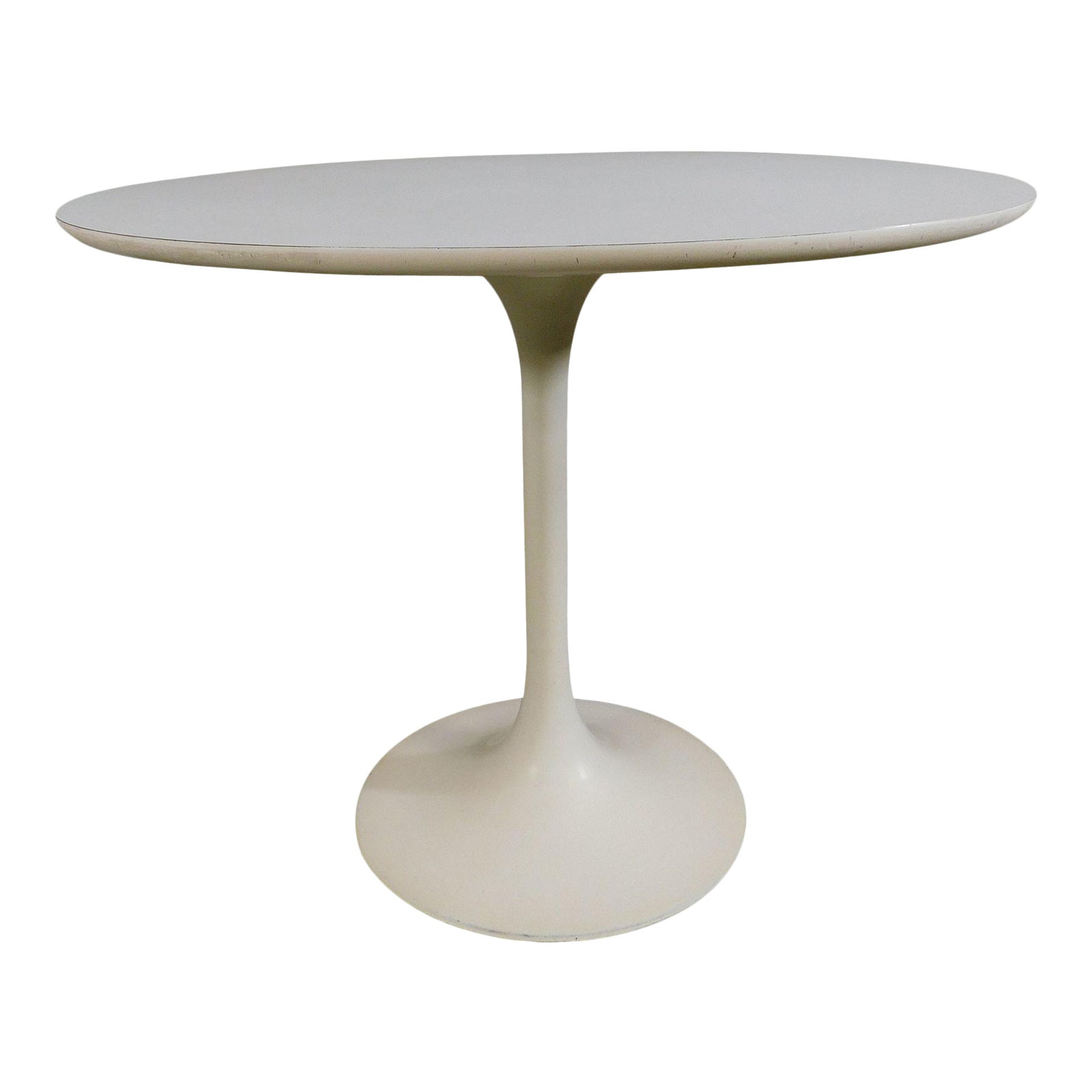 Mid Century Modern Tulip Style 36 Round Dining Table After Saarinen Chairish