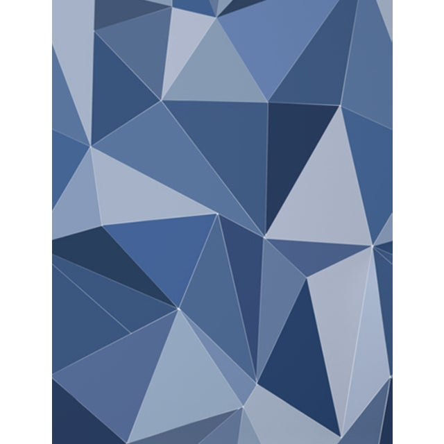 Cole and Son Geometric Facet Wallpaper in Blue For Sale In New York - Image 6 of 6