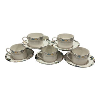 Mikasa Ultima Headline Cups & Saucers -Set of 7