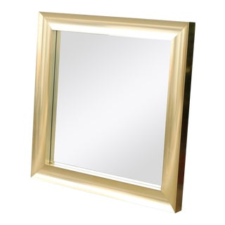 Vintage Brass Wall Mirror For Sale