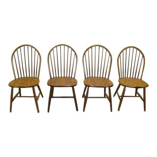 Ethan Allen Solid Maple Windsor Style Chairs - Set of 4 For Sale