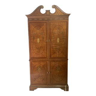 Drexel Heritage Inlaid Mahogany Armoire For Sale