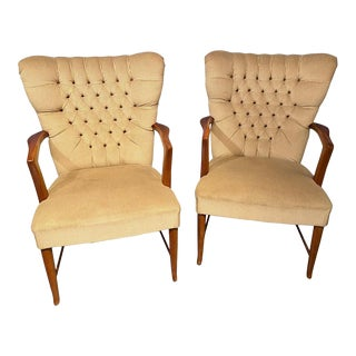 Mid-Century Modern Lounge Chairs Paolo Buffa Attribution - a Pair For Sale