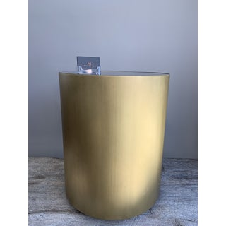 Brass and Black Glass Round Side Table Preview