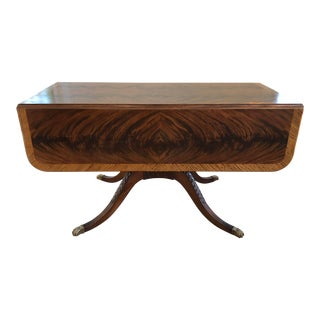 20th Century American Classical Drop-Leaf Library Table For Sale