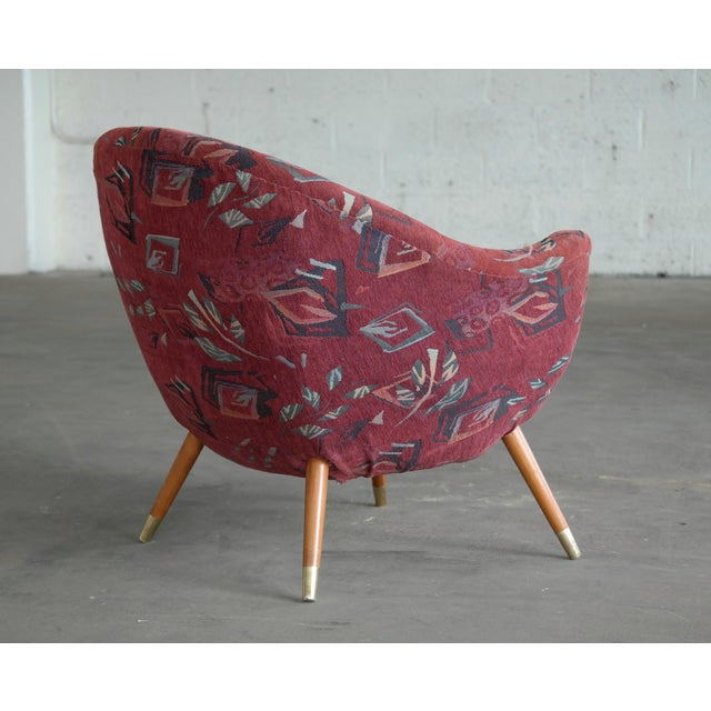1960's Italian Lounge Chair in the Style of Gio Ponti Ca. For Sale - Image 10 of 13