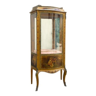 Louis XV Style Verni Martin Cabinet in the Manner of Linke For Sale