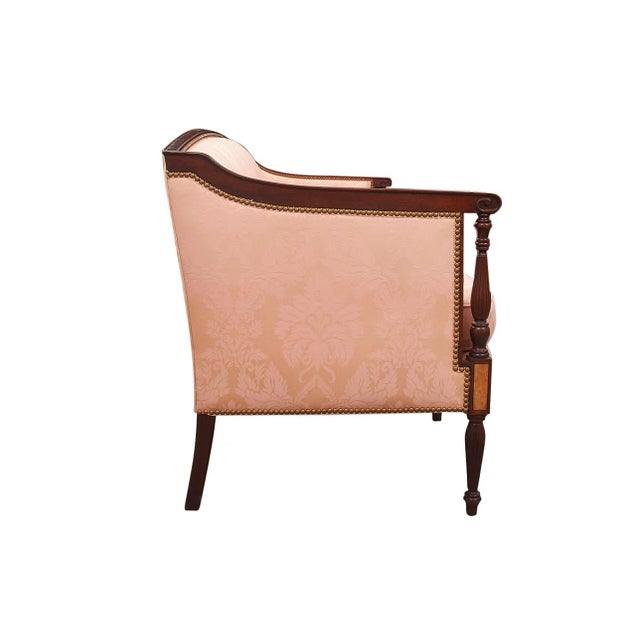 Hollywood Regency 1960's Vintage Hickory Chair Furniture Company Sheraton Style Settee For Sale - Image 3 of 7
