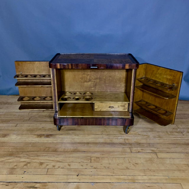 1930s 1930s Rootwood & Rosewood Bar Cabinet With Intarsia For Sale - Image 5 of 11