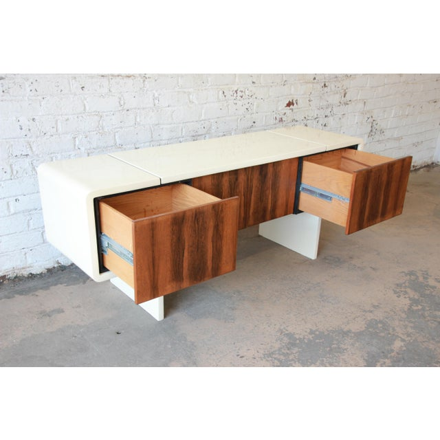 1970s Vintage William Sklaroff Mid-Century Modern Uniplane Credenza For Sale In South Bend - Image 6 of 11