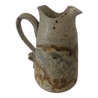Artist Handmade Ceramic Carafe / Pitcher For Sale