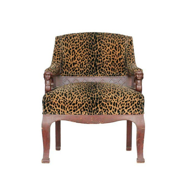 Empire Empire Style Chair Pair with Leopard Print Covering For Sale - Image 3 of 8