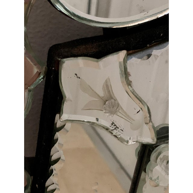 Vintage Venetian Tall Mirror For Sale In Miami - Image 6 of 12
