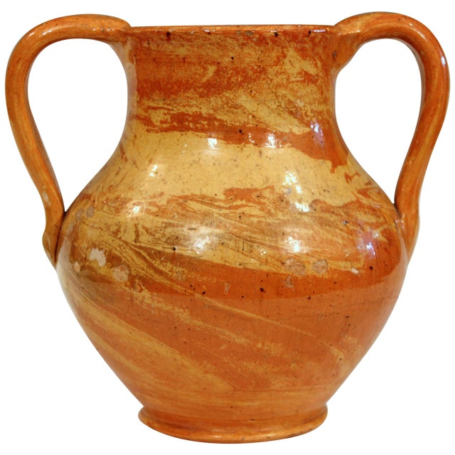North Carolina Pottery Agate Ware Antique Jonah Owen Early North State Vase For Sale