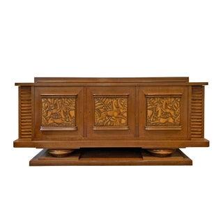 1920's Danish Art Deco Oak Cabinet For Sale