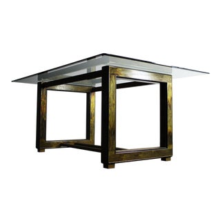 Bernhard Rohne for Mastercraft Acid-Etched Brass Table For Sale