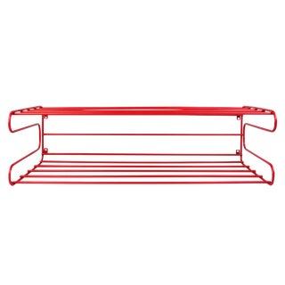 Vintage 1960s Mid-Century Modern Red Wire Shelf