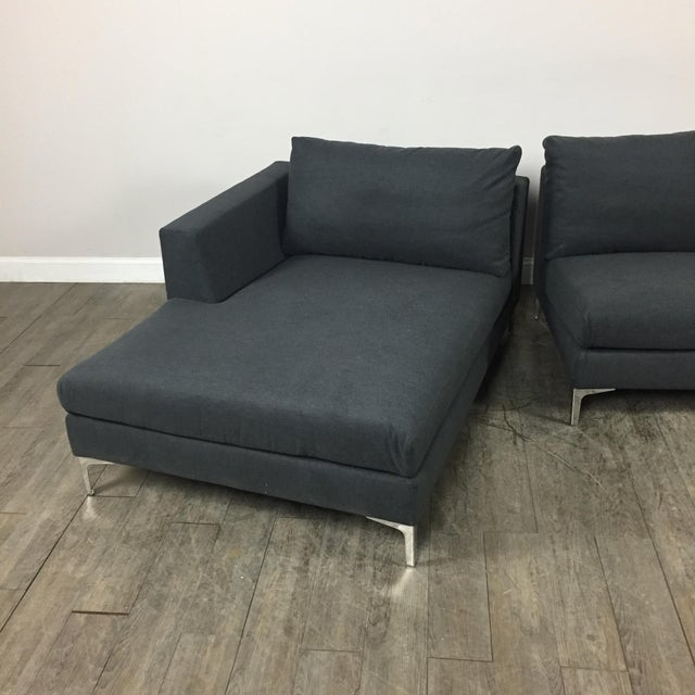 Modern Gray Left Chaise Sectional Sofa - Image 8 of 8