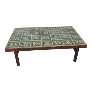 1970s Arts and Crafts Swedish Tile Coffee Table For Sale
