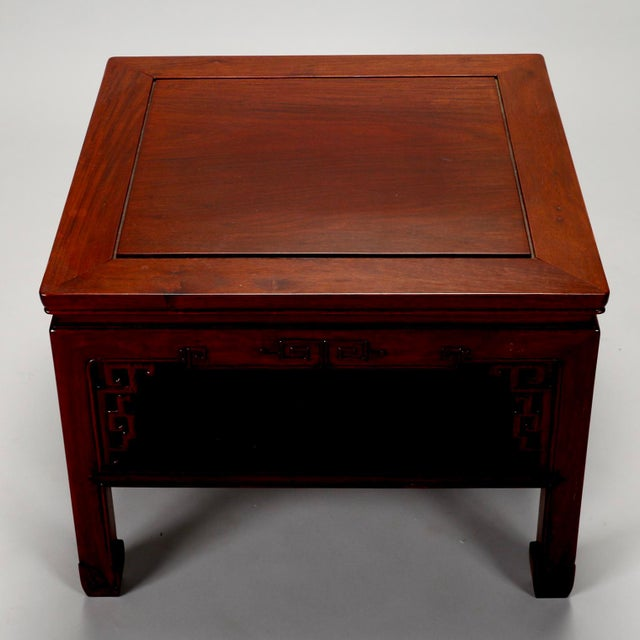 Chinese Carved Wooden Square Cocktail Table c.1930s - Image 7 of 7