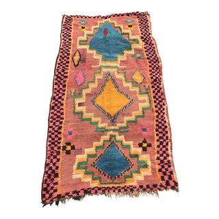 Vintage Berber Moroccan Rug - 3′1″ × 7′4″ For Sale