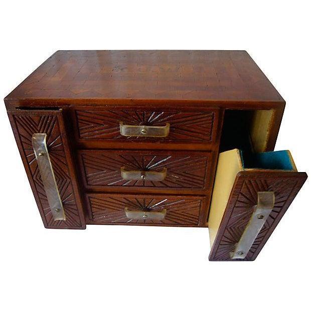 Monogrammed Wood Inlay Box - Image 2 of 5