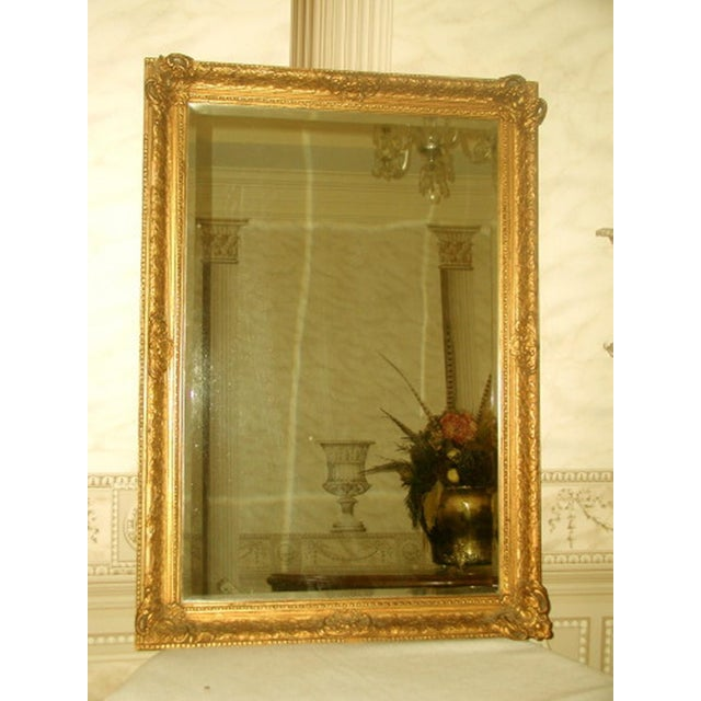 French 19th C. Carved Gilt Frame & Beveled Mirror - Image 3 of 10