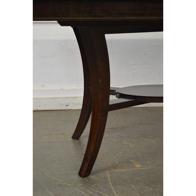Jonathan Charles Kallos Custom Mahogany Dining Table - Image 3 of 11