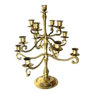 Baldwin 13 Candle 12-Arm Brass Candelabra