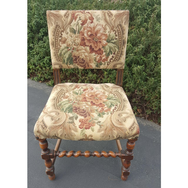 Metal 1940s Vintage Upholstered Dining Chairs- Set of 8 For Sale - Image 7 of 13