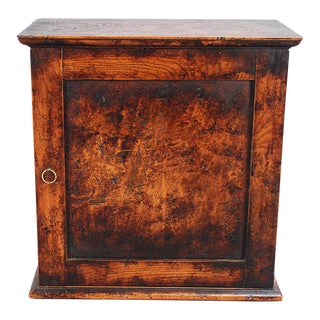 English Traditional Burl Spice Cabinet For Sale