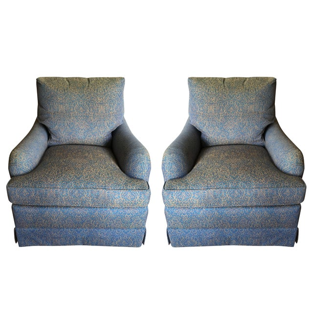 Baker Swivel Club Chairs - A Pair - Image 1 of 6