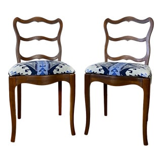1940s Provincial Chairs With Pendleton Fabric - a Pair For Sale