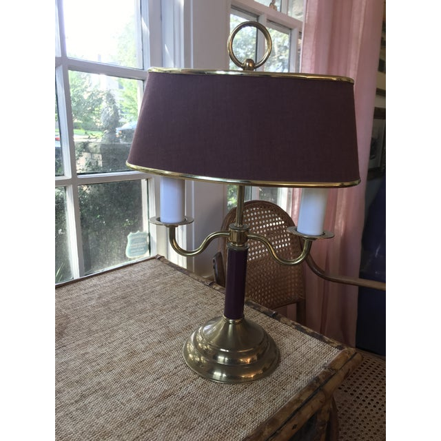 Metal 1940s Vintage Double Candle Bouillotte Lamp For Sale - Image 7 of 12