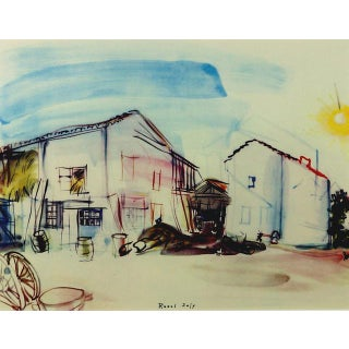 Framed 'Normandy Farm' Lithograph Preview